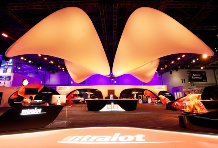INTRALOT BOOTH DESIGN ICE EXHIBITION LONDON