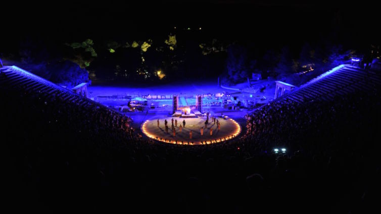PLOUTOS ARISTOPHANES ANCIENT THEATER OF EPIDAVRUS 2013