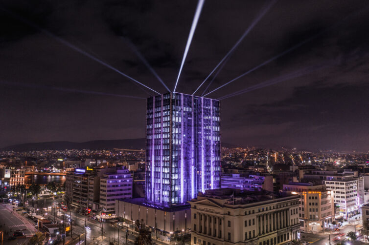 PIREAUS TOWER FESTIVE ILLUMINATION 2020 – 2021
